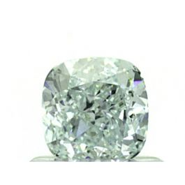 0.70 Carat, Natural Fancy Light Bluish Green, VS1 Clarity, Cushion Shape, GIA