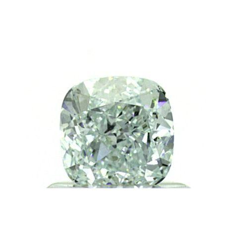 0.70 Carat, Natural Fancy Light Bluish Green, VS1 Clarity, Cushion Shape, GIA