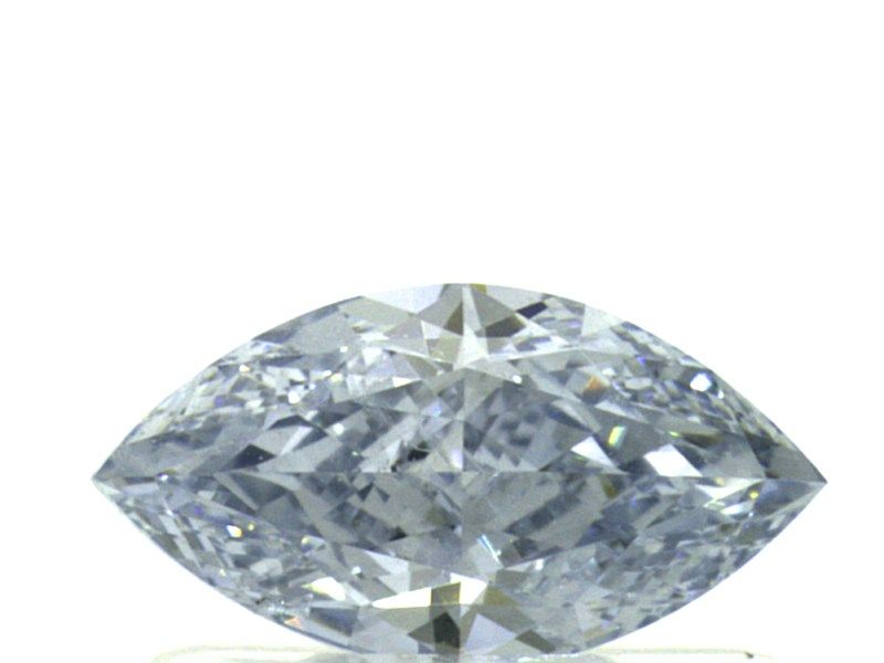 0.52 Carat, Natural Fancy Intense Blue, Marquise Shape, I1 Clarity, GIA