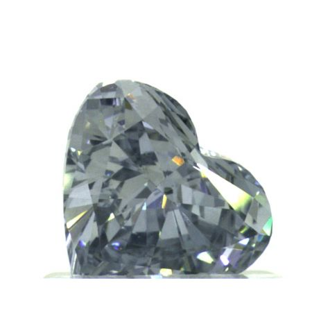0.73 Carat, Fancy Intense Blue, Heart shape, VS2 Clarity, GIA