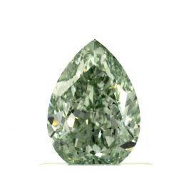 0.73 Carat, Fancy Intense Green, Pear shape, VS1, GIA