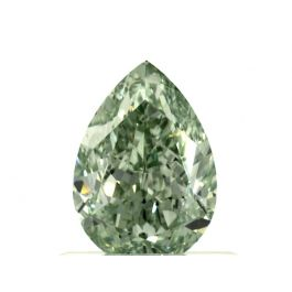 0.73 Carat, Fancy Intense Green, Pear shape, VS1, GIA