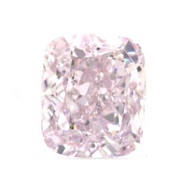 1.00 Carat, Fancy Light Purplish Pink, Cushion, VS2 Clarity, GIA