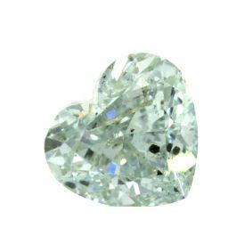 1.06 Carat, Fancy Green, Heart Shape, GIA