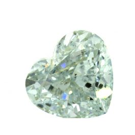 1.06 Carat, Fancy Green, Heart Shape, GIA