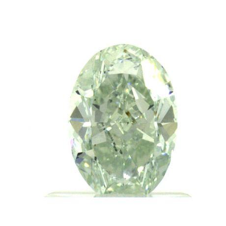 0.74 Carat, Fancy Light Green, VS2 Clarity, Oval, GIA