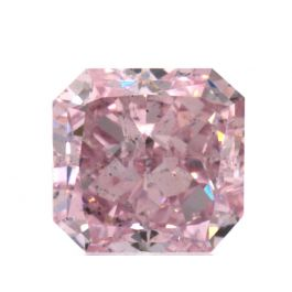 0.89 Carat, Fancy Intense Purplish Pink, SI2 Clarity, Radiant, GIA