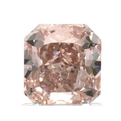 1.34 Carat, Fancy Orangy Pink, Radiant, SI2 Clarity, GIA