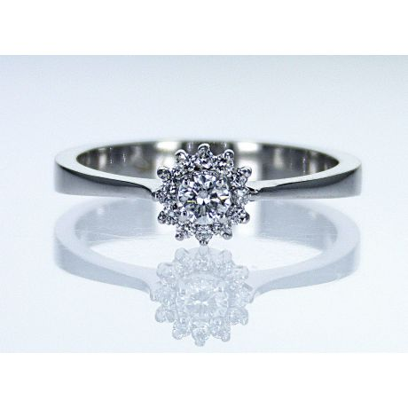 Engagement ring with 0.22ct diamonds, IGL Certified