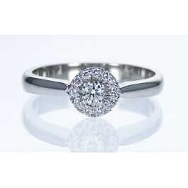 Engagement ring with 0.23ct diamonds, IGL Certified