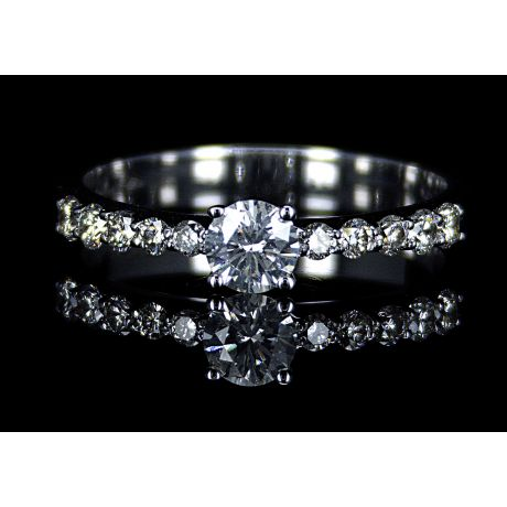 Engagement ring with 0.62ct diamonds, IGL Certified