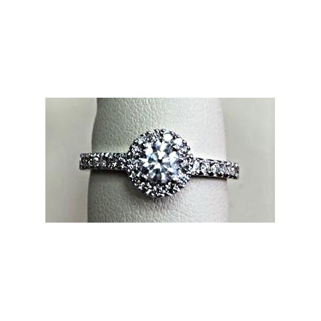 Engagement ring with 0.70ct diamonds, IGL Certified