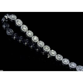 7.87ct Tennis Bracelet, 18K Gold