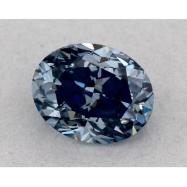 0.39ct Fancy Vivid Blue, VS2 Clarity, Oval, GIA