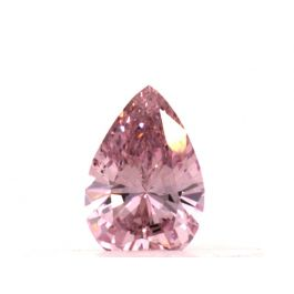 0.15 carat, Fancy Intense Purplsh Pink, Pear shape, VS2 Clarity, GIA