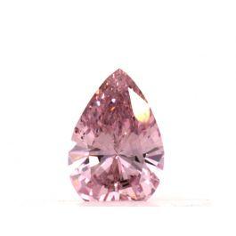 0.15 carat, Fancy Intense Purplsh Pink, Pear shape, VS2 Clarity, GIA