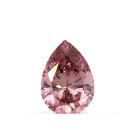 0.16 carat, Fancy Intense Pink, VS1 Clarity, Pear shape, GIA