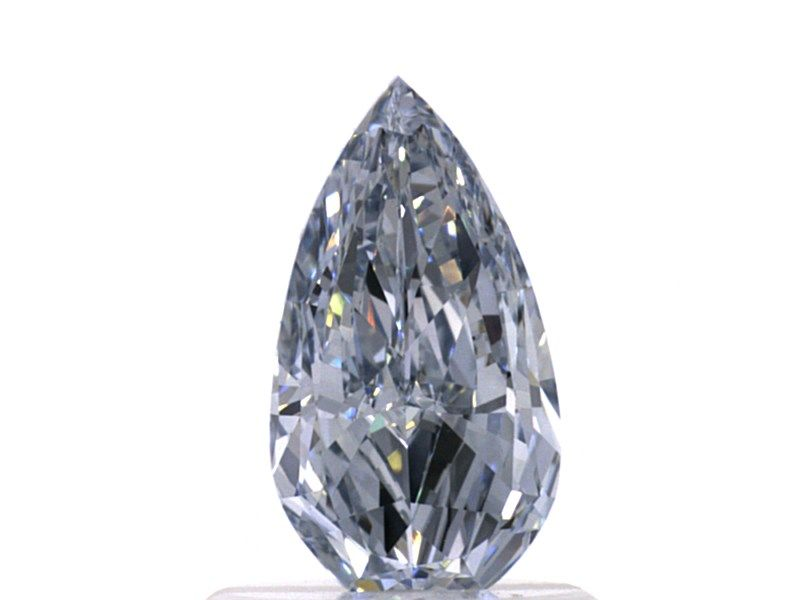 0.78 carat, Fancy Blue, Pear shape, VS2 Clarity, GIA