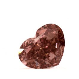 1.01 carat, Fancy Intense Orangy Pink. VS2 Clarity, Heart shape, GIA