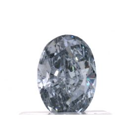 0.53 carat, Fancy Intense Blue, Oval, VS2 Clarity, GIA