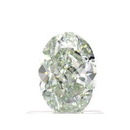 0.74 carat, Fancy Light Green, Oval, VS2 Clarity, GIA