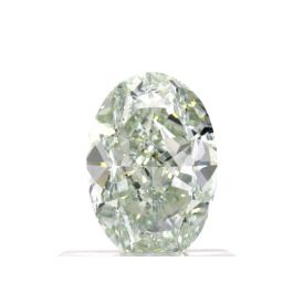 0.74 carat, Fancy Light Green, Oval, VS2 Clarity, GIA