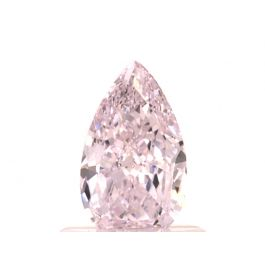 0.61 carat, Light Pink, Pear shape, IF Clarity, GIA