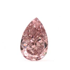 0.72 carat, Fancy Intense Pink. Pear shape, SI2 Clarity, GIA