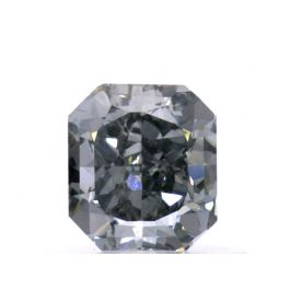 0.56 carat, Fancy Gray-Blue, Radiant, SI1 Clarity, GIA