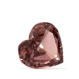 0.53 carat, Fancy Deep Pink, Heart Shape, VS1 Clarity, GIA