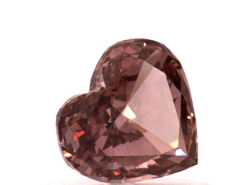 0.53 carat, Fancy Deep Pink, Heart Shape, VS1 Clarity, GIA