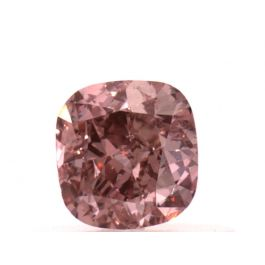 0.50 carat, Fancy Intense Orangy Pink, Cushion, SI1 Clarity, GIA