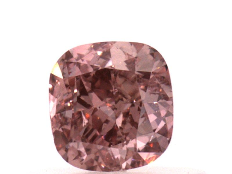 0.50 carat, Fancy Intense Orangy Pink, Cushion, SI1 Clarity, GIA