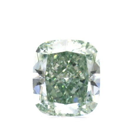 0.41 carat, Fancy Intense Green, Cushion, IF Clarity, GIA