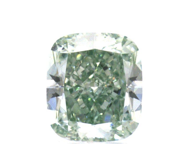 0.41 carat, Fancy Intense Green, Cushion, IF Clarity, GIA