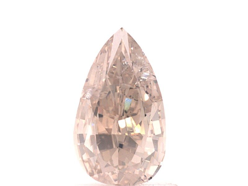 1.15 Carat, Natural Fancy Light Pinkish Brown, Pear, I1, GIA