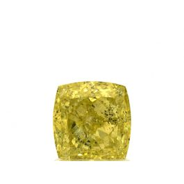 1.54 carat, Fancy Intense Greenish Yellow, Cushion, GIA