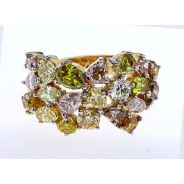 4.66ct Fancy Color Diamond Ring, 9.40gr 18K, IGI Certified