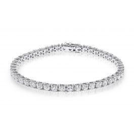 9.07 carat, Tennis Bracelet, H Color, 15gr. 18K Gold