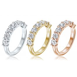 1.50ct Half Eternity Ring, I1 Clarity, 14K Gold