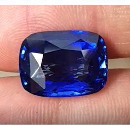 12.09ct. Natural Blue Sapphire, Cushion Shape, GRS certified