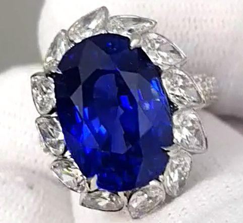 12.94ct. Natural Blue Sapphire,