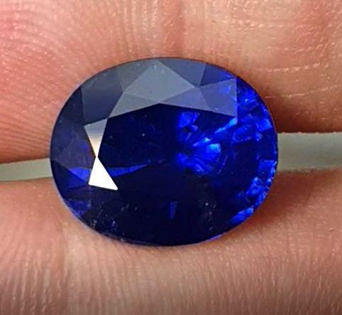 15.82ct. Natural Vivid Blue Sapphire, Cushion Shape, GRS certified