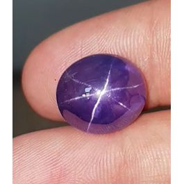19.97ct. Violetish-Blue Star Sapphire, No Heat, GRS certified