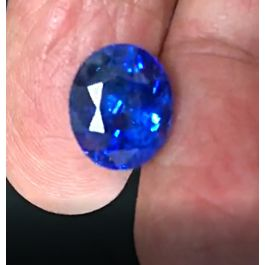 10.02ct, Natural Blue Sapphire, Oval, GRS certified