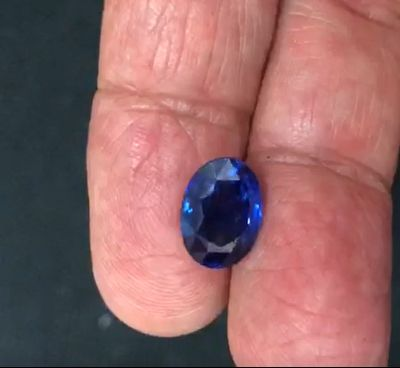 6.12ct, Natural Blue Sapphire, Oval, GRS certified