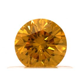 0.50 carat, Fancy Vivid Yellow-Orange, Round, GIA