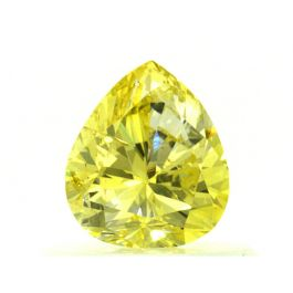 0.54 carat, Natural Fancy Intense Yellow, GIA