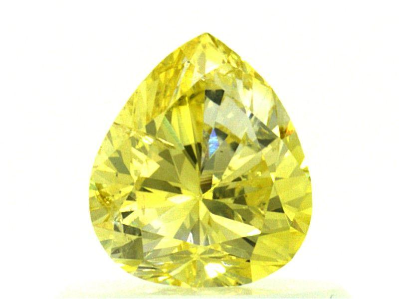 0.54 carat, Natural Fancy Intense Yellow, GIA