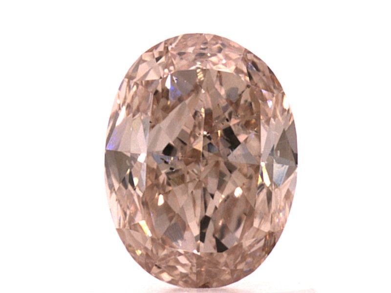 0.82 carat, Natural Fancy Brown-Pink, GIA
